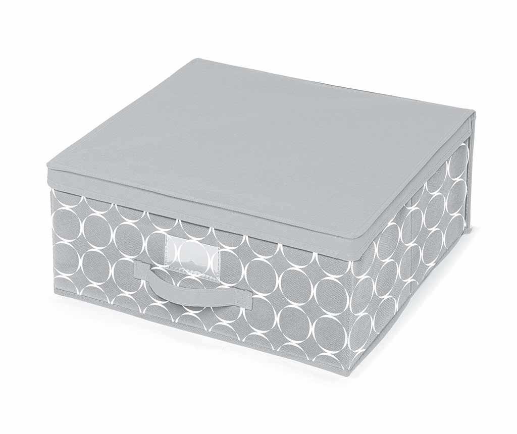 Kutija za spremanje s poklopcem Hoop Grey M