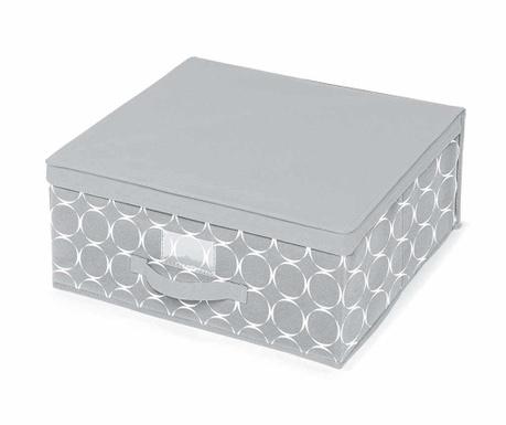 Κουτί με καπάκι για αποθήκευση Hoop Grey M