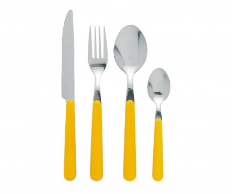 Set tacamuri 24 piese Jolly Yellow