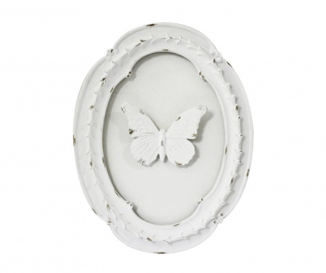 Decoratiune de perete Butterfly Oval White