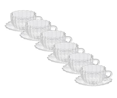 Сервиз 6 чашки и 6 чинийки Borosilicate Lines
