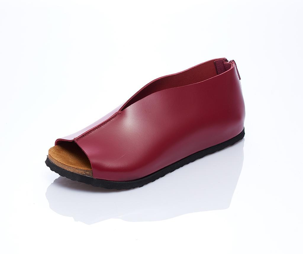 Sandale dama Erika Burgundy 40