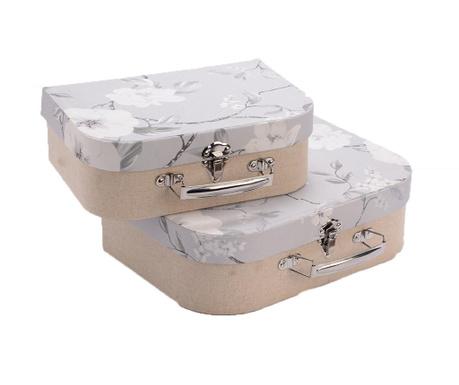 Set 2 cutii cu capac Adelain