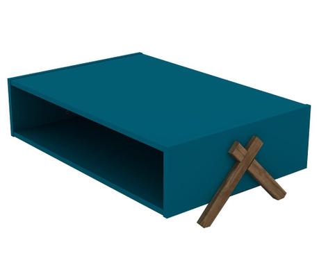 Klubska mizica Kipp Walnut Blue