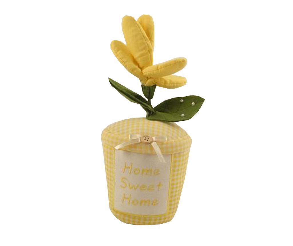 Flower Pot Yellow Ajtótámasz