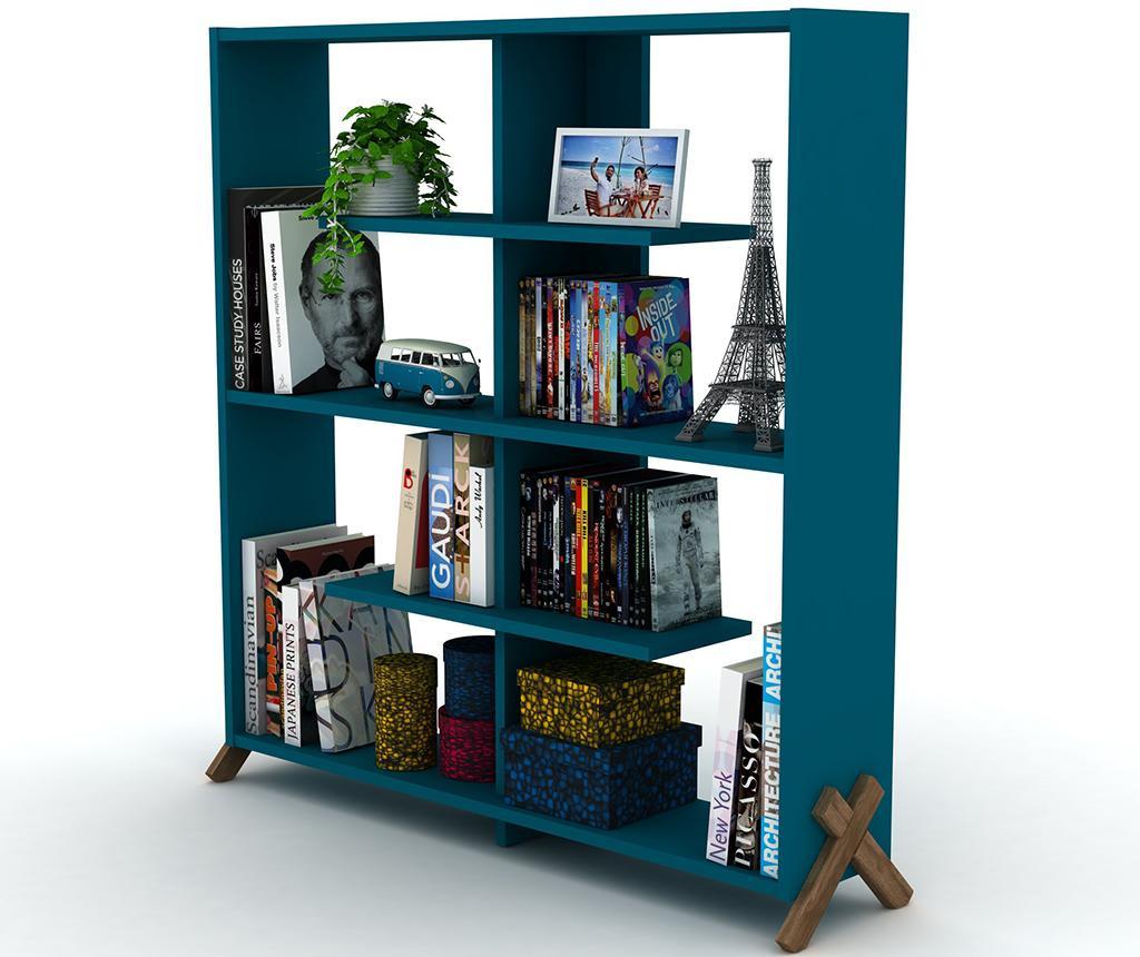 Knjižni regal Kipp Walnut Blue