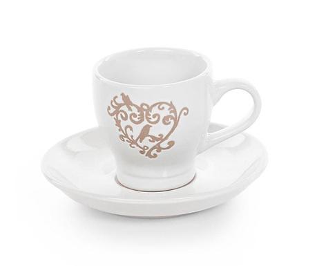 Комплект чашка и чинийка Cuore