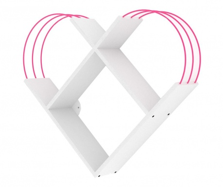 Nástěnný regál Case White Pink