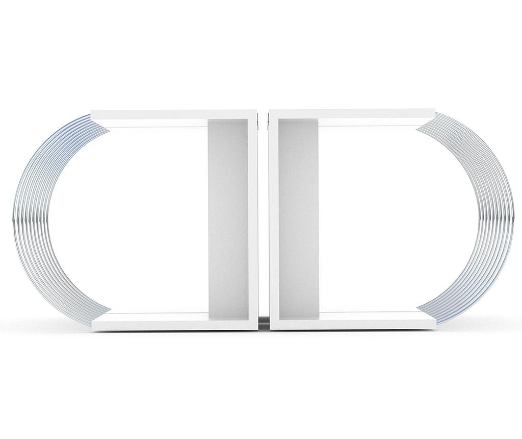 Set 4 masute Case White Chrome