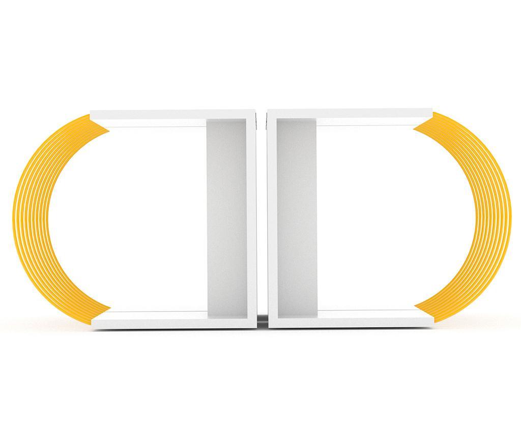 Case White Yellow 4 db Asztalka