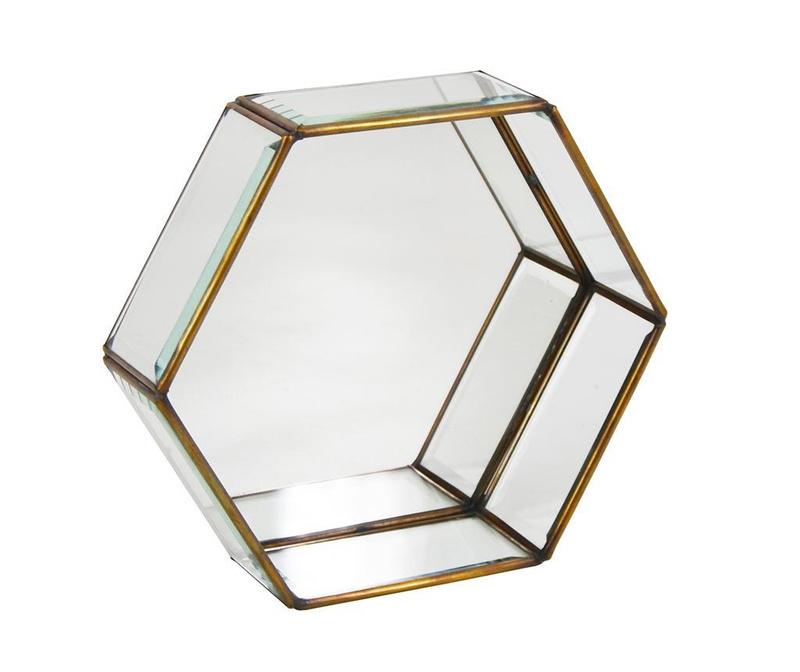 Bisel Hexagonal Fali polc S