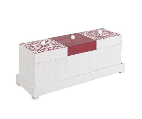Комплект 3 кутии с капак за съхранение и поставка Barcellona