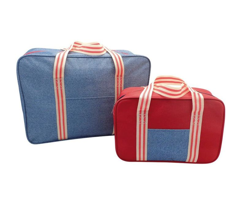 Set 2 hladilnih torb Snap Denim Stripe