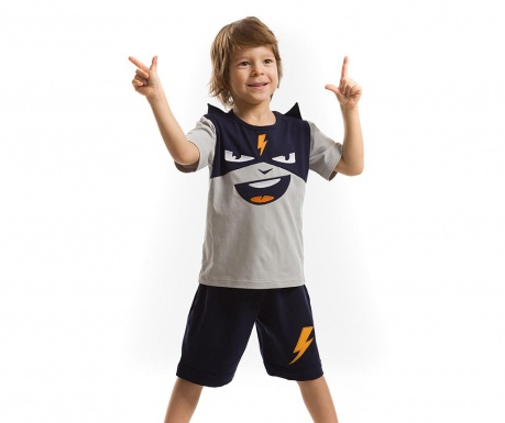 Set tricou si pantaloni scurti pentru copii Cool Thunder