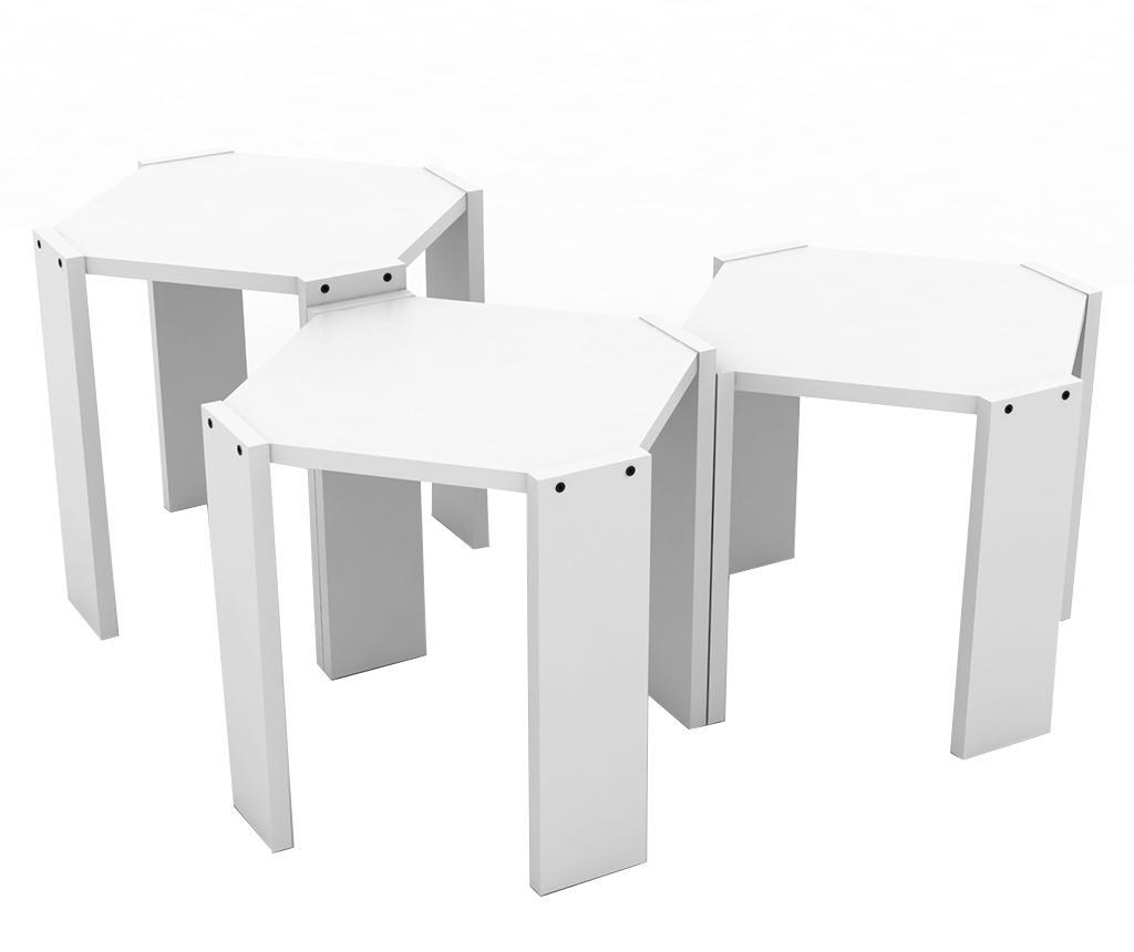 Rafevi Hansel White 3 db Asztalka