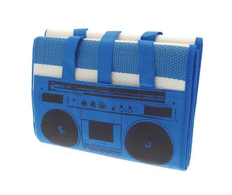 Plážová podložka Beach Radio Blue 90x180 cm