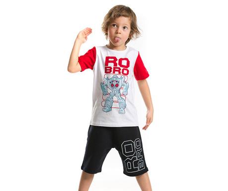 Set tricou si pantaloni scurti pentru copii Ro-Bro