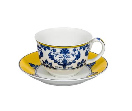 Set ceasca si farfurioara pentru ceai Castelo Ornamental Blue
