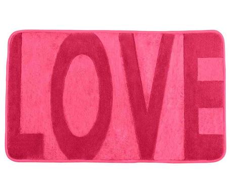 Kúpeľňová predložka Love Pink 50x80 cm