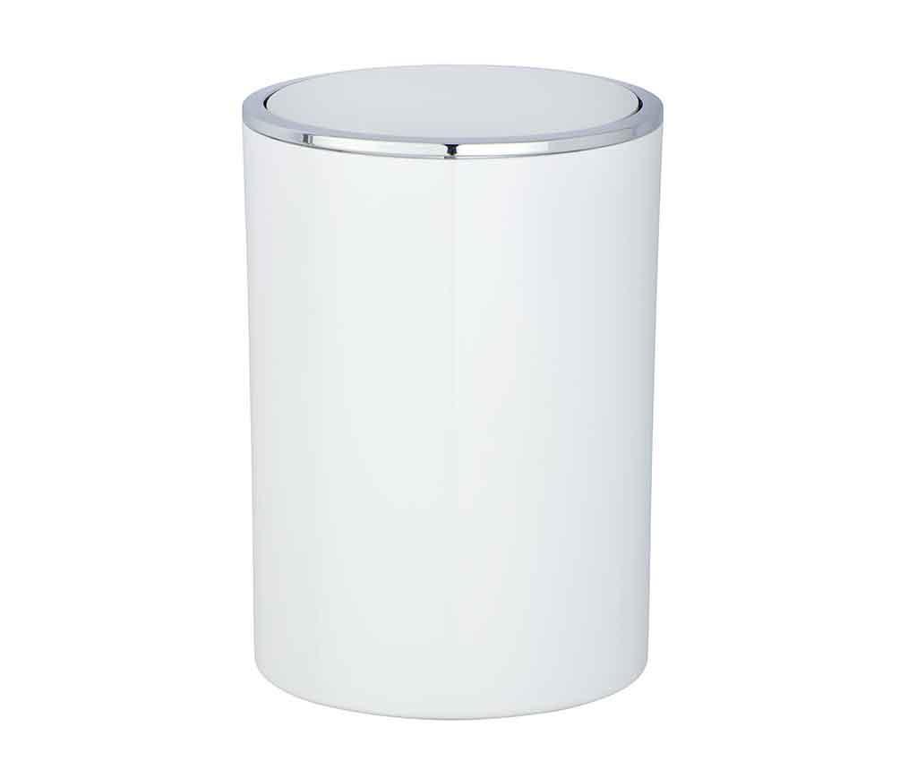 Incal White Szemetes kosár fedővel 5 L