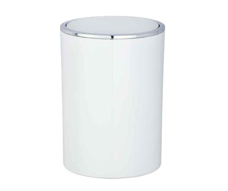 Odpadkový kôš s vekom Incal White 5 L