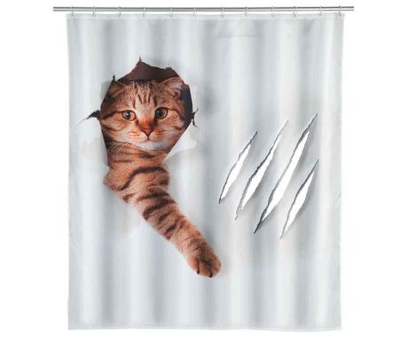 Zasłona prysznicowa Cute Cat 180x200 cm