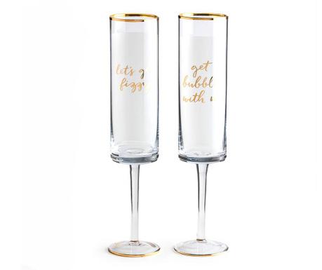 Zestaw 2 kieliszków do szampana Bubbly Fizz 300 ml