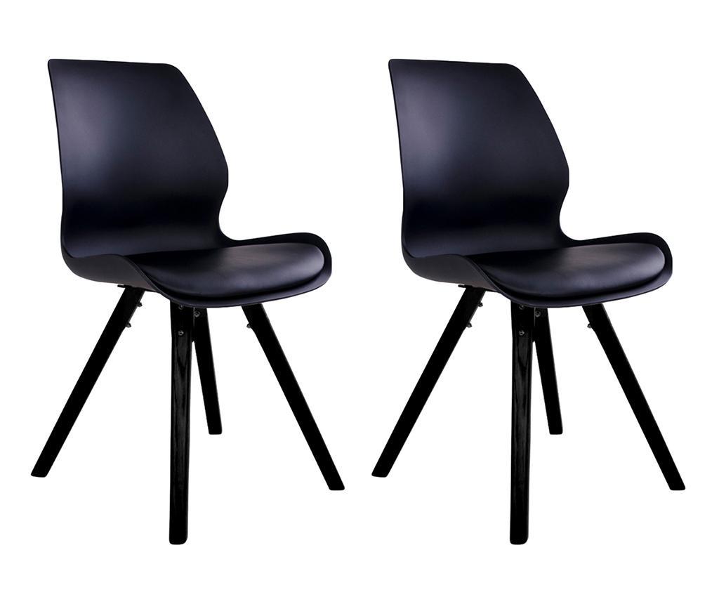 Set 2 stolice Ranna Black