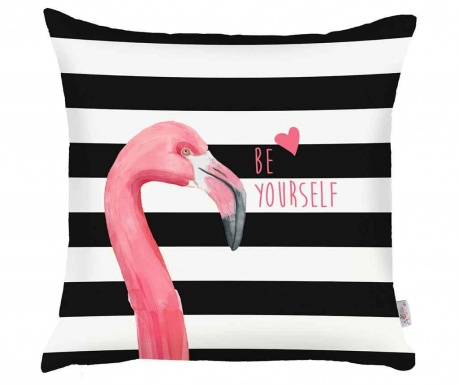 Obliečka na vankúš Be Yourself Flamingo 43x43 cm