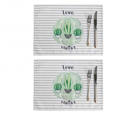Set 2 individualuri Love Cactus 33x45 cm