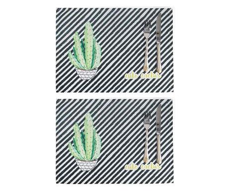 Zestaw 2 podkładek stołowych Cute Cactus 33x45 cm