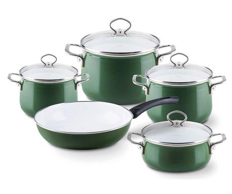 9-dijelni set posuda za kuhanje Nouvelle Green