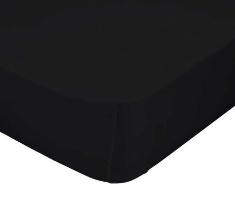 Posteľná plachta s gumičkou Basic Black