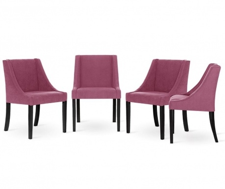 Set 4 scaune Guy Laroche Home Creativity Fuchsia