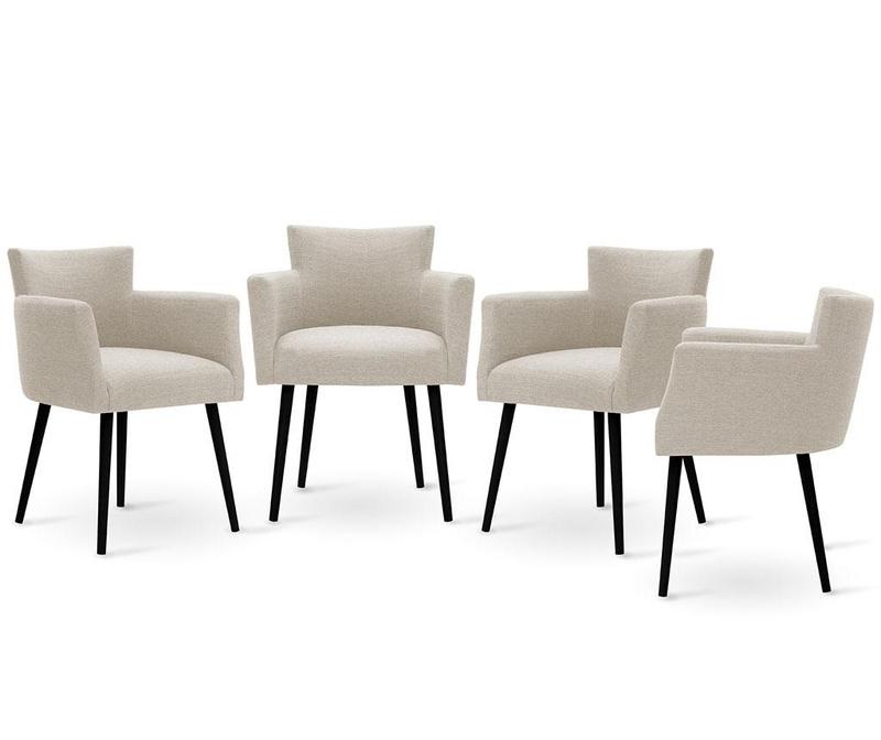 Set 4 scaune Corinne Cobson Home Billie Cream