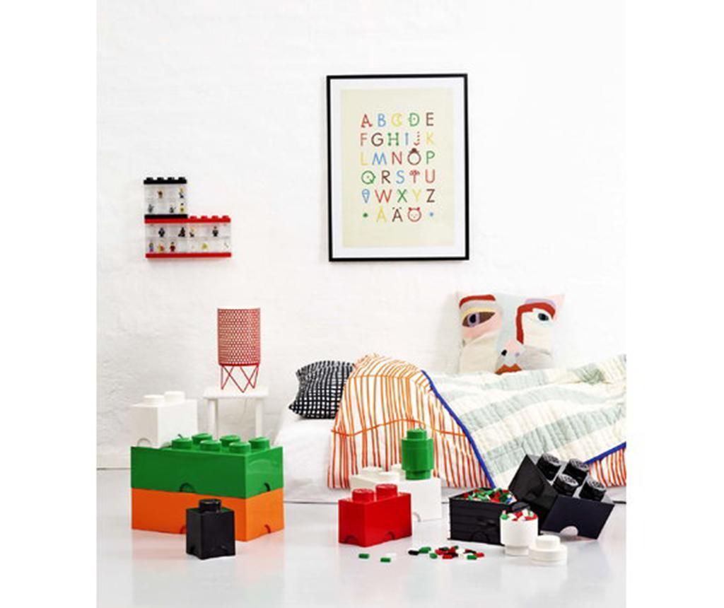 Kutija s poklopcem Lego Square Four Black