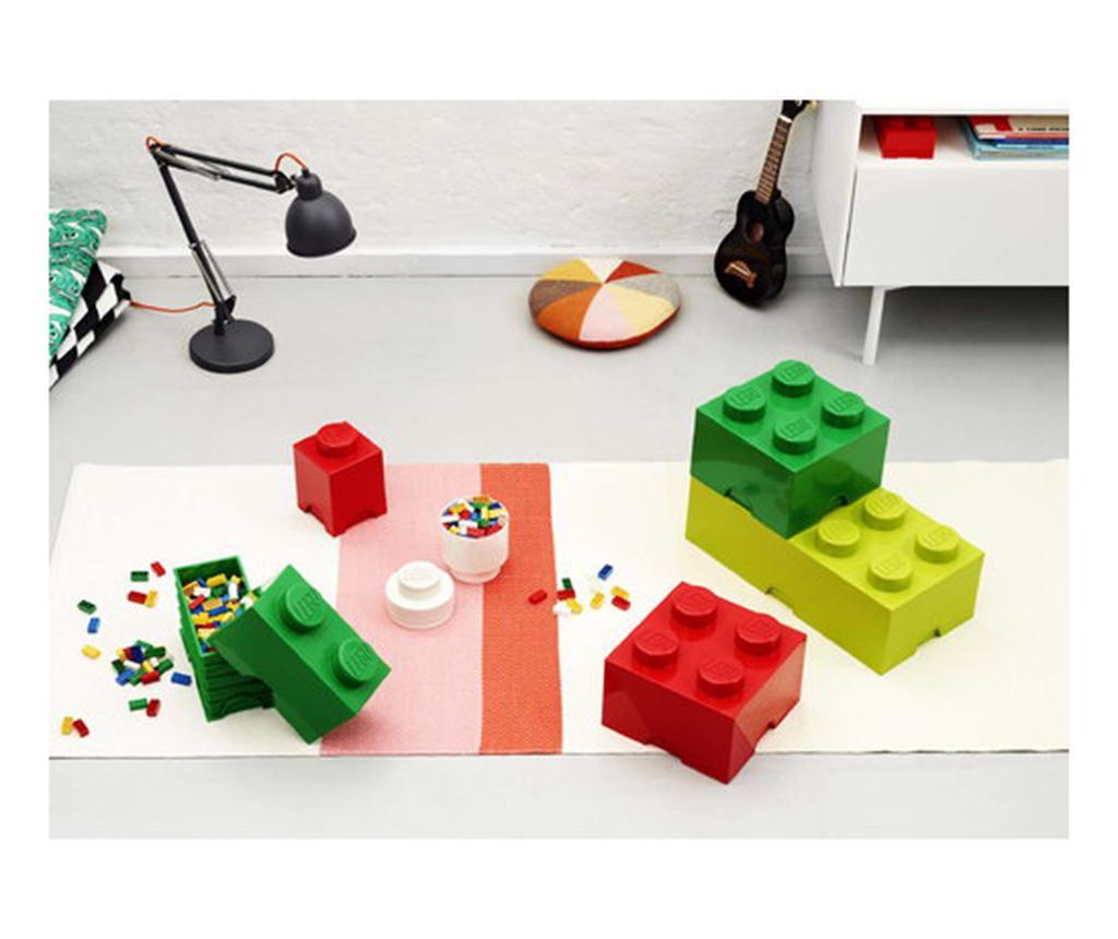 Lego Square Four Sand Green Doboz fedővel