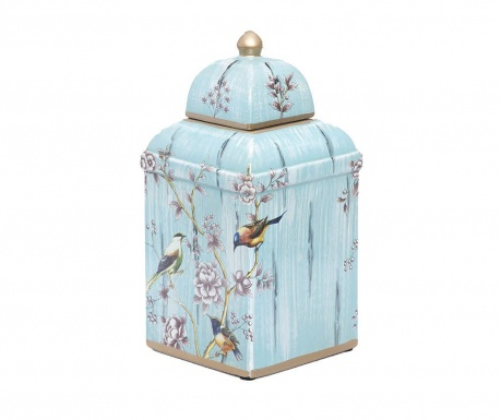 Декоративен съд с капак Dione Light Blue