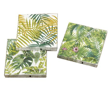 Sada 3 balíčků ubrousků Leaf Phino