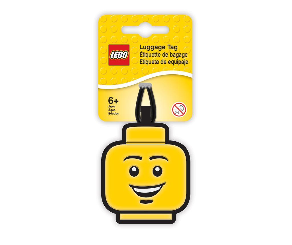 Eticheta pentru bagaje Lego Boy Face