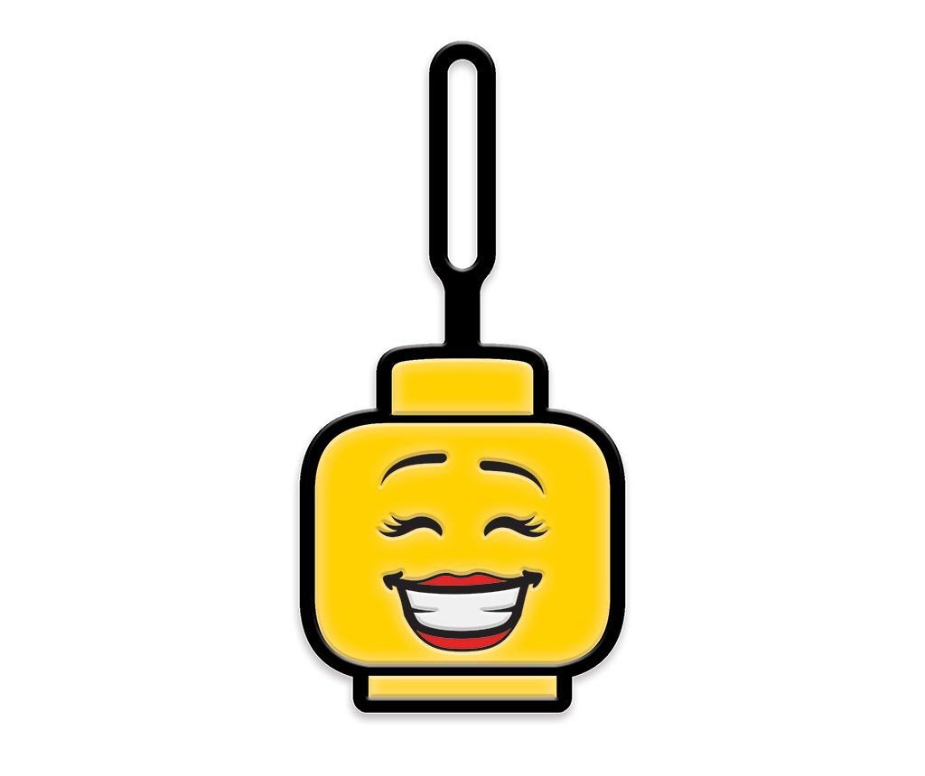 Lego Girl Face Poggyászcímke