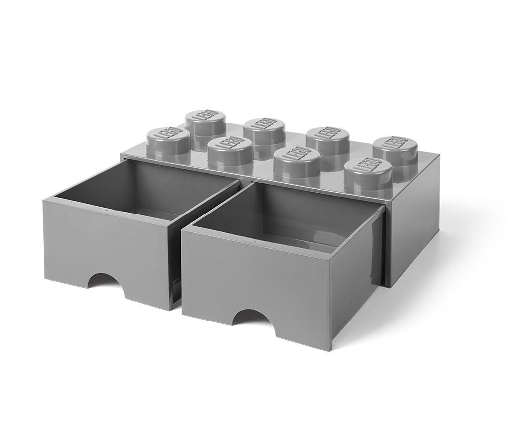 Kutija za spremanje Lego Square Duo Grey