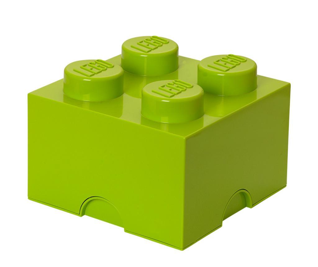 Lego Square Four Green Doboz fedővel