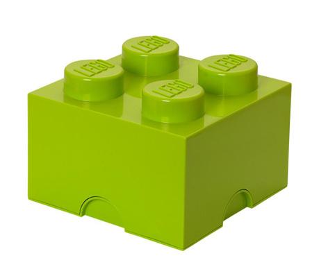 Cutie cu capac Lego Square Four Green