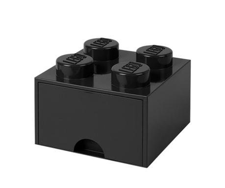 Cutie pentru depozitare Lego Square One Black