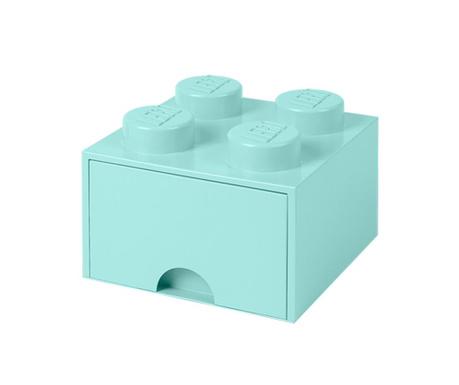 Lego Square One Turquoise Tárolódoboz