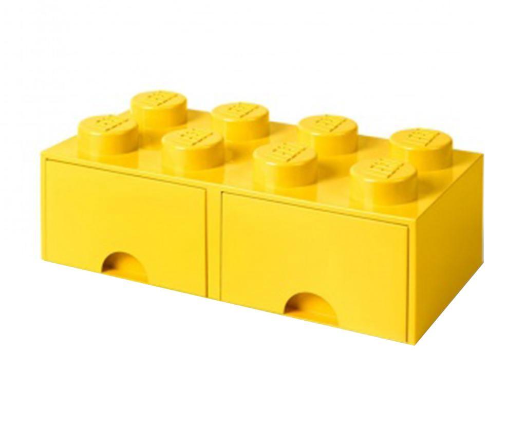 Lego Square Duo Yellow Tárolódoboz