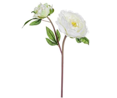 Umělá květina Peony White
