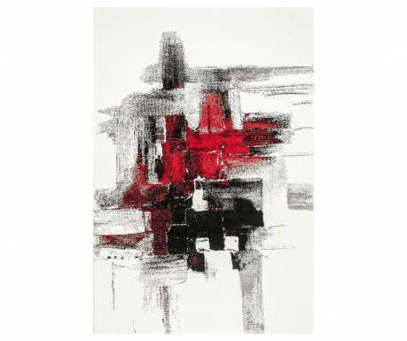 Covor Imogen Black and Red 160x230 cm