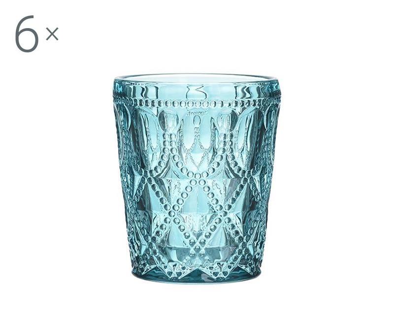 Set 6 kozarcev za viski Jael Blue 330 ml